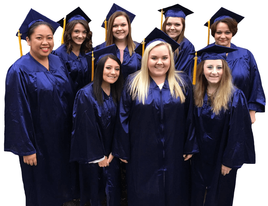 Campus graduates and graduates from online degree programs in WV, PA and OH